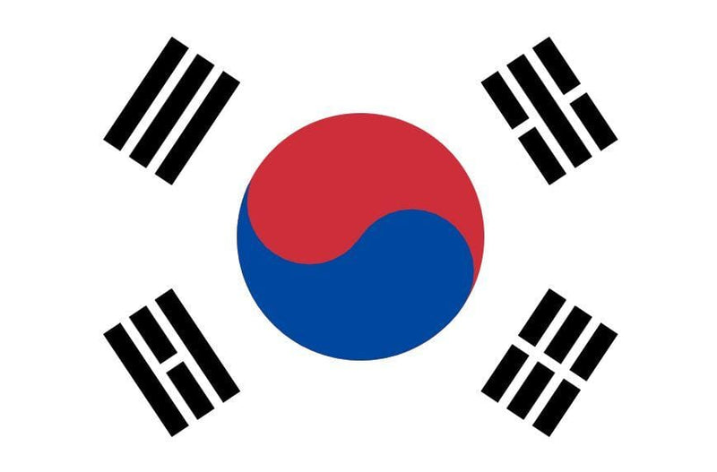 Printed South Korea Flags