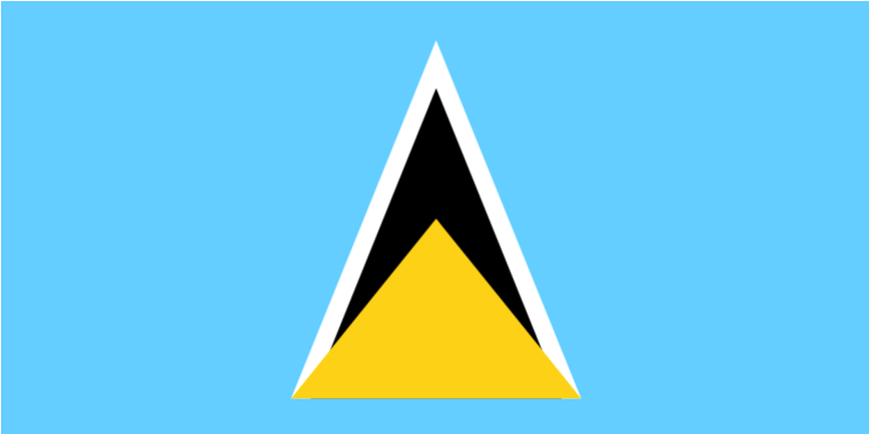 Printed St. Lucia Flags