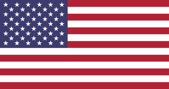 Printed USA Flags