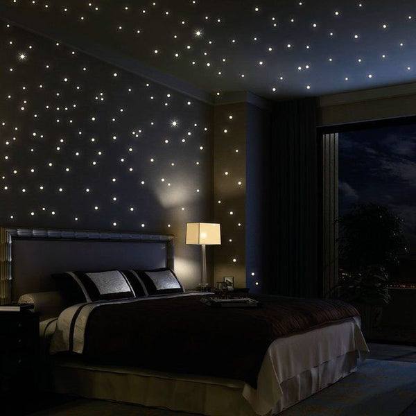 100 Units Home Glowing Star Decoration Wall Stickers