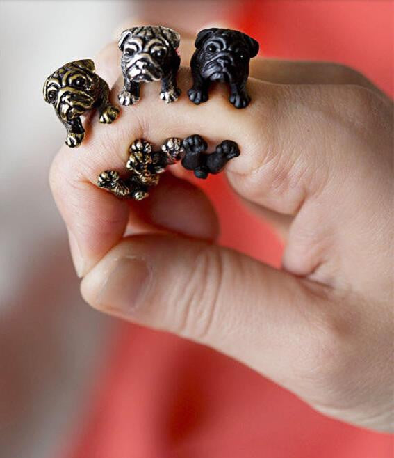 Cute And Cuddly Pug Ring For Women