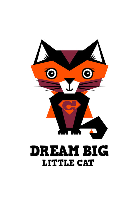Dream Big Little Cat