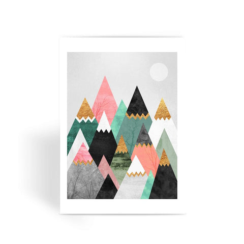 Pretty Mountains - Greeting Card
