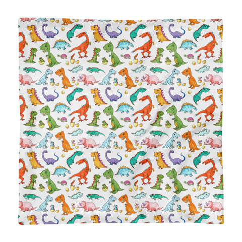 Dino Families - Square Pillow Case