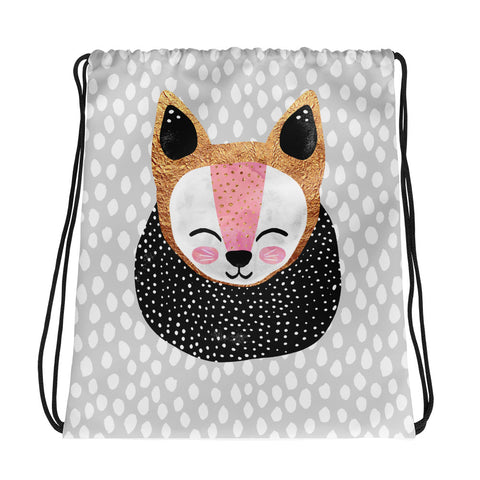 Little Arctic Fox - Drawstring Bag