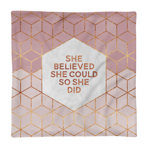 She Believed She Could - Square Pillow Case