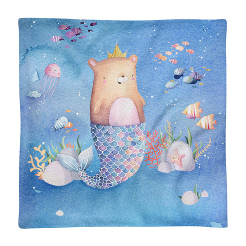 Mermaid - Square Pillow Case