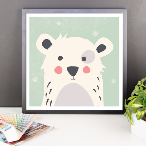 Polar Bear - Framed Poster
