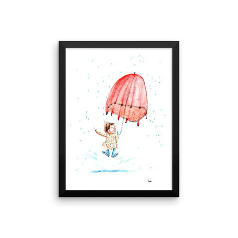Autumn Rain - Framed Poster