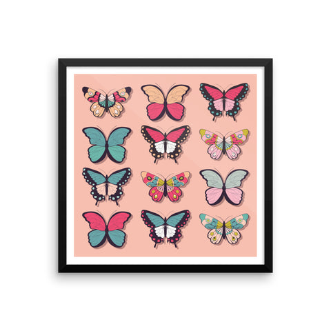 Butterflies - Framed Poster