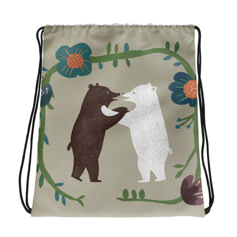 Hugging Bears - Drawstring Bag