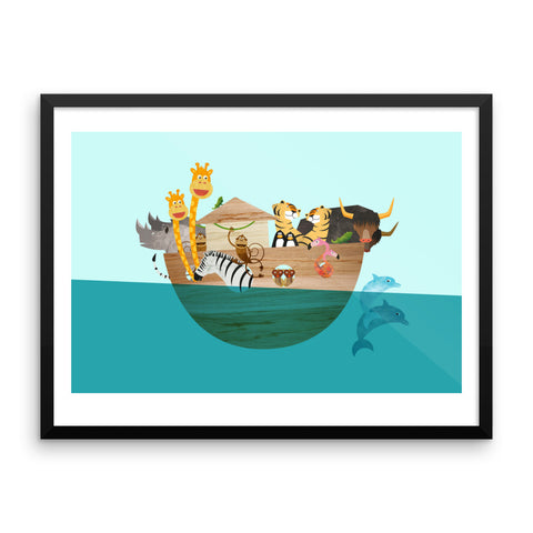 Animals on Board - Framed Poster