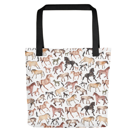 Horse Pattern - Tote Bag