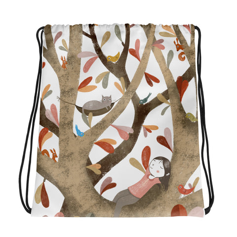 In the Tree II - Drawstring Bag