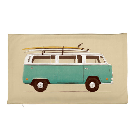 Blue Van - Rectangular Pillow Case