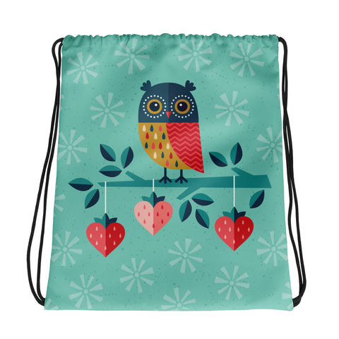 Owl Always Love You Drawstring Bag