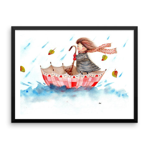 Sailing through September - Framed Poster