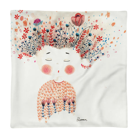 Flower Head - Square Pillow Case