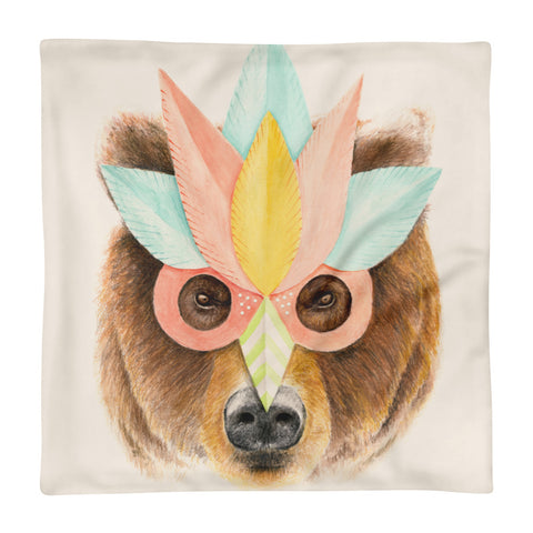 Bear - Square Pillow Case