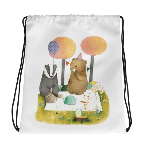 Picnic in the Forest - Drawstring Bag