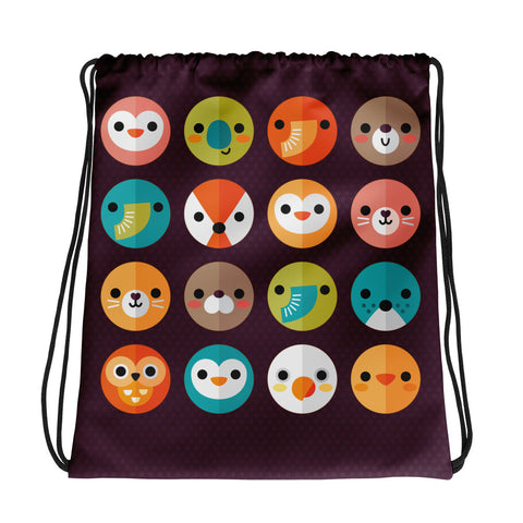 Smiley Faces - Drawstring Bag