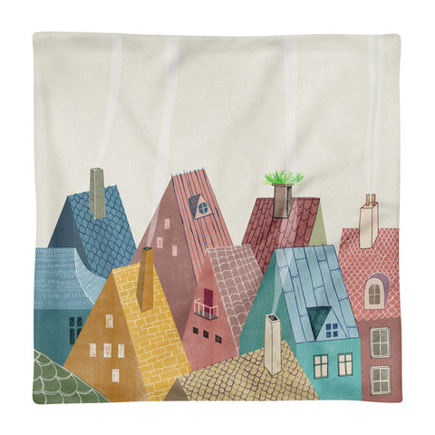 Rooftops - Square Pillow Case