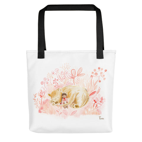 Girl and Bear - Tote Bag