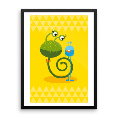 Monster Love - Framed Poster