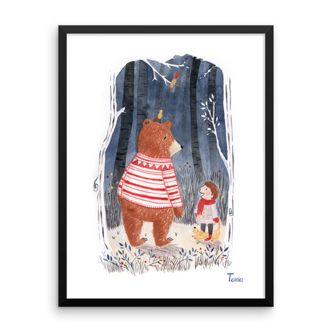 Boy and Bear - Framed poster