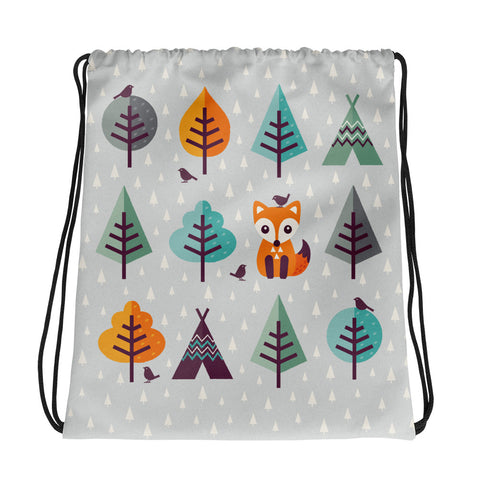 Fox In The Forest - Drawstring Bag