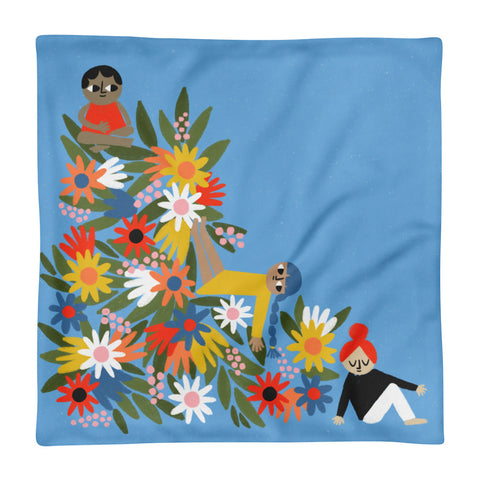 Flower Friends - Square Pillow Case