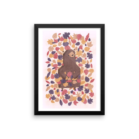 Leaf Me Alone - Framed Poster