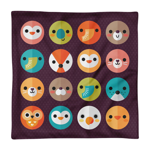 Smiley Faces - Square Pillow Case
