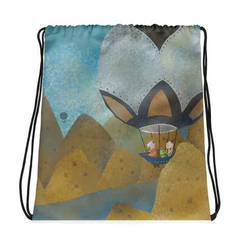 Blue Journey - Drawstring Bag
