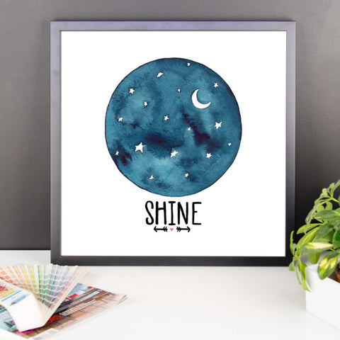 Shine - Framed Poster