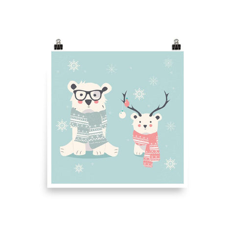 Two hipster polar bears
