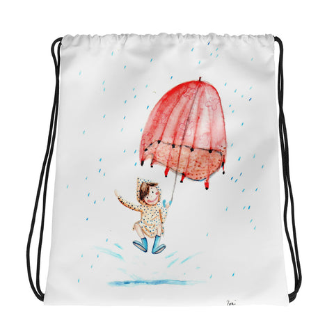 Autumn Rain - Drawstring Bag