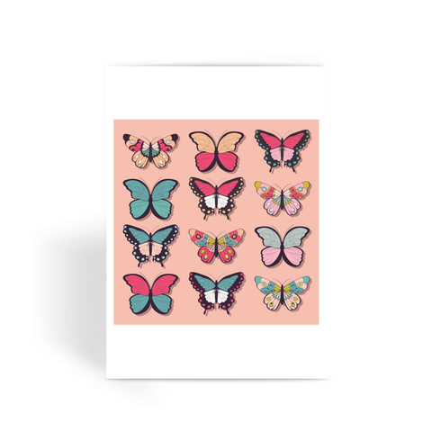 Butterflies - Greeting Card
