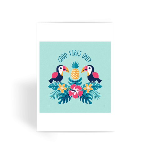 Good Vibes Only - Greeting Card