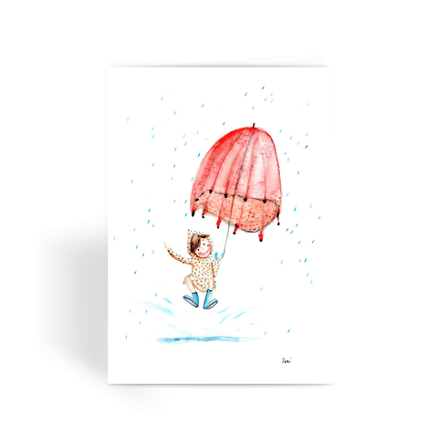 Autumn Rain - Greeting Card