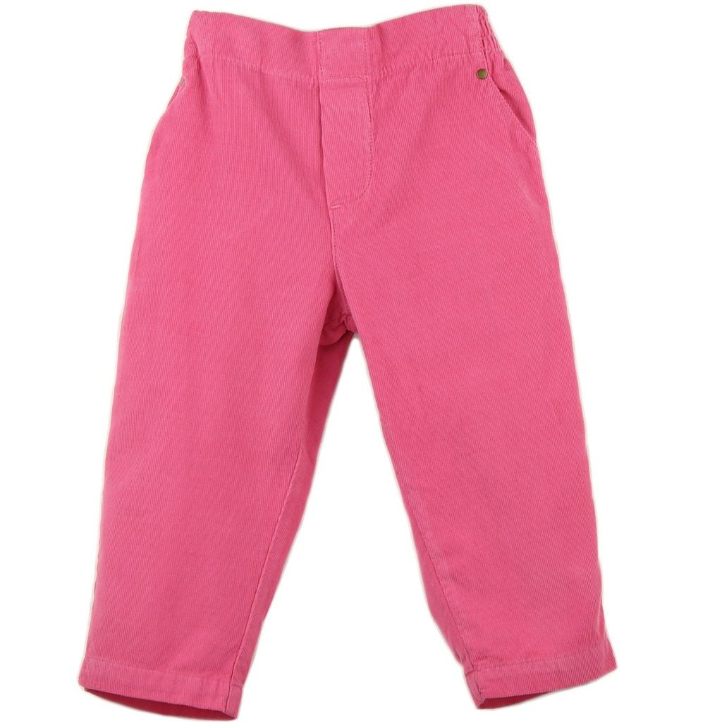 girl and boys corduroy pants in pink