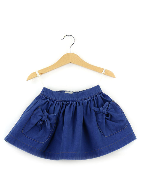 Cotton Skirt | Denim