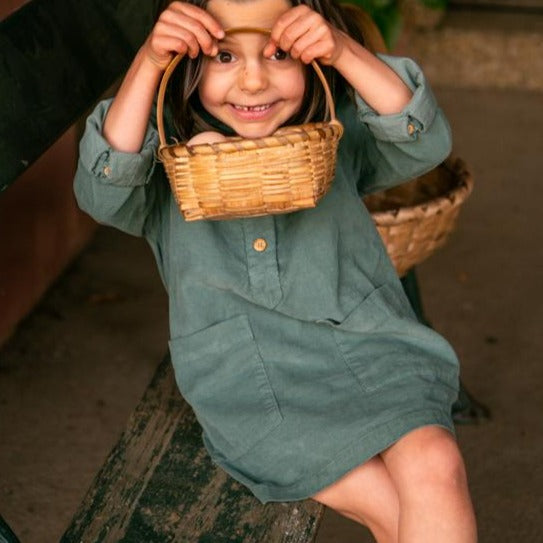 Corduroy sailor dress | Green Cactus