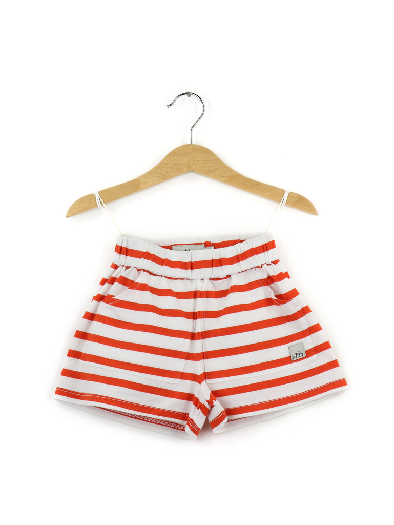 Striped shorts | Orange and white - PECEGUEIRO & F.os