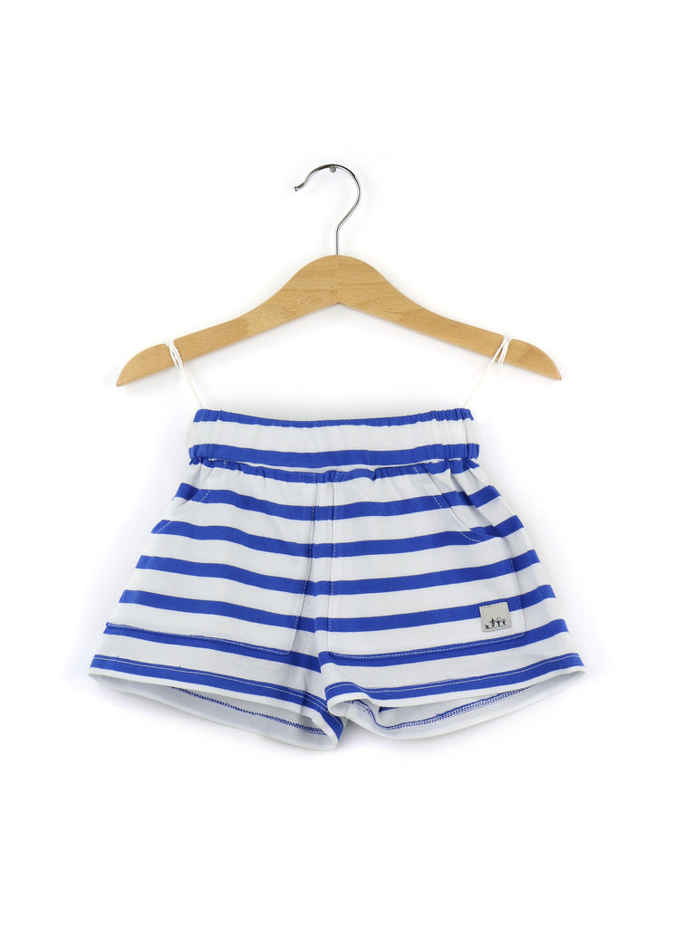 Cotton shorts | Blue and white stripes