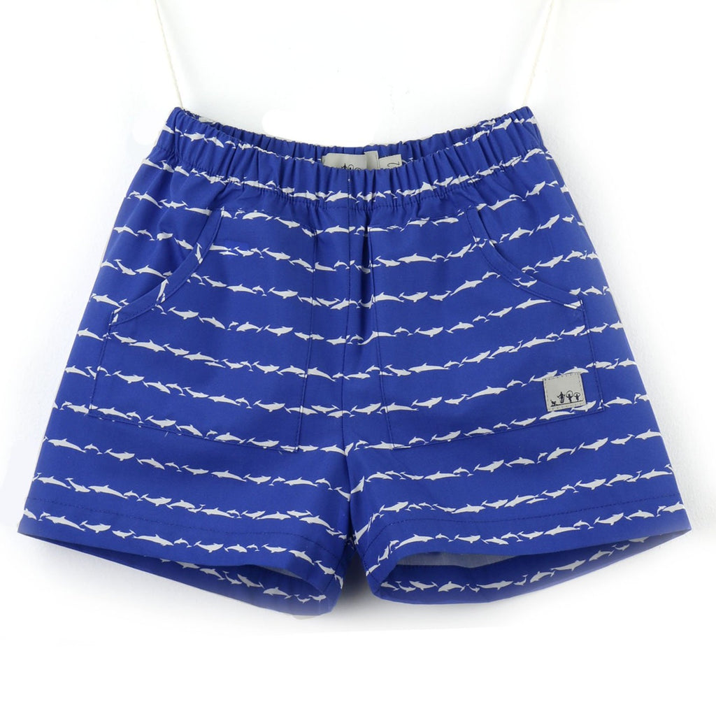Poplin Shorts | Royal blue and White | Roaz do Sado - PECEGUEIRO & F.os