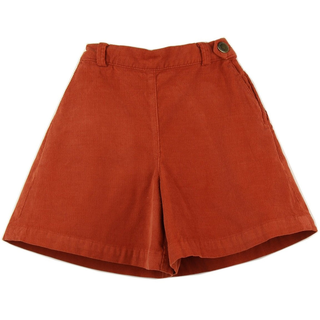 Girl culottes in Brick corduroy - front