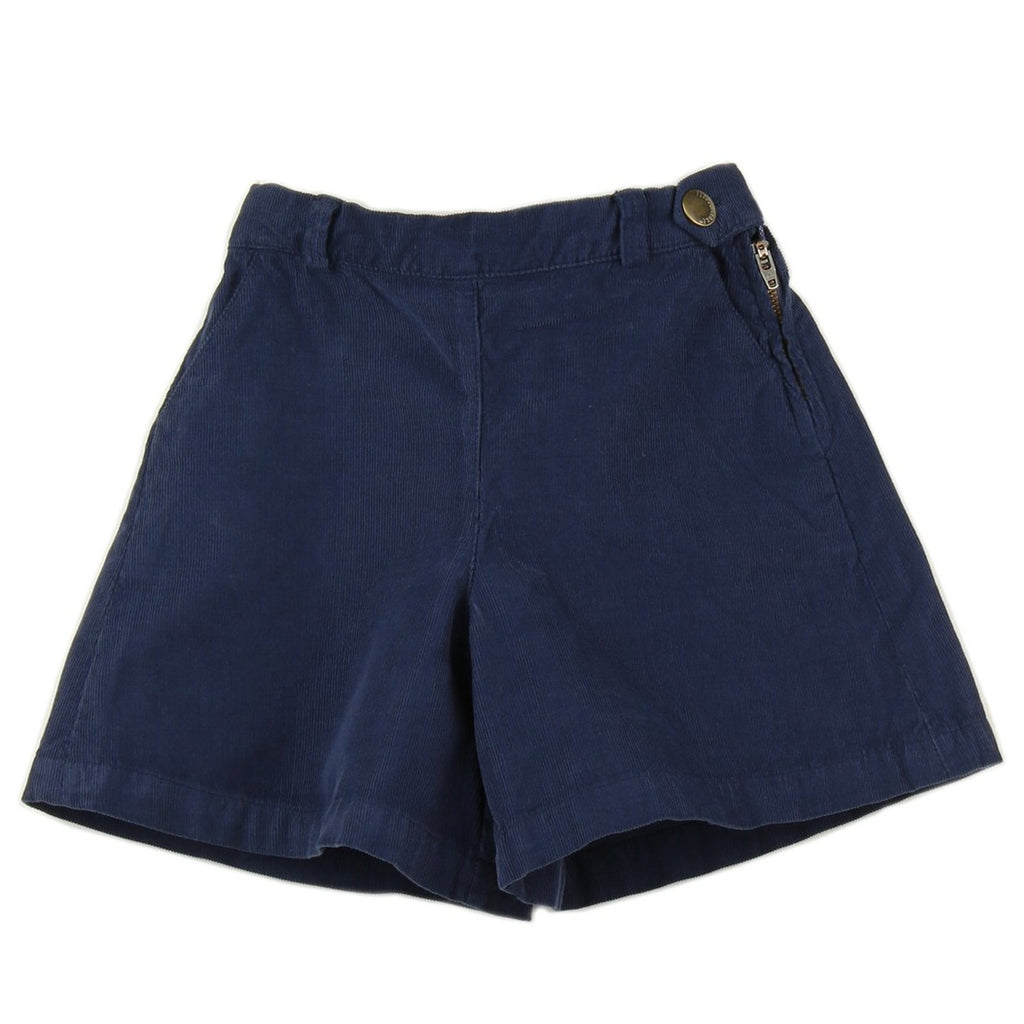 Girl culottes in Navy Blue corduroy - front