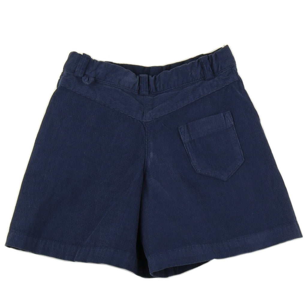 Girl culottes in Navy Blue corduroy - back