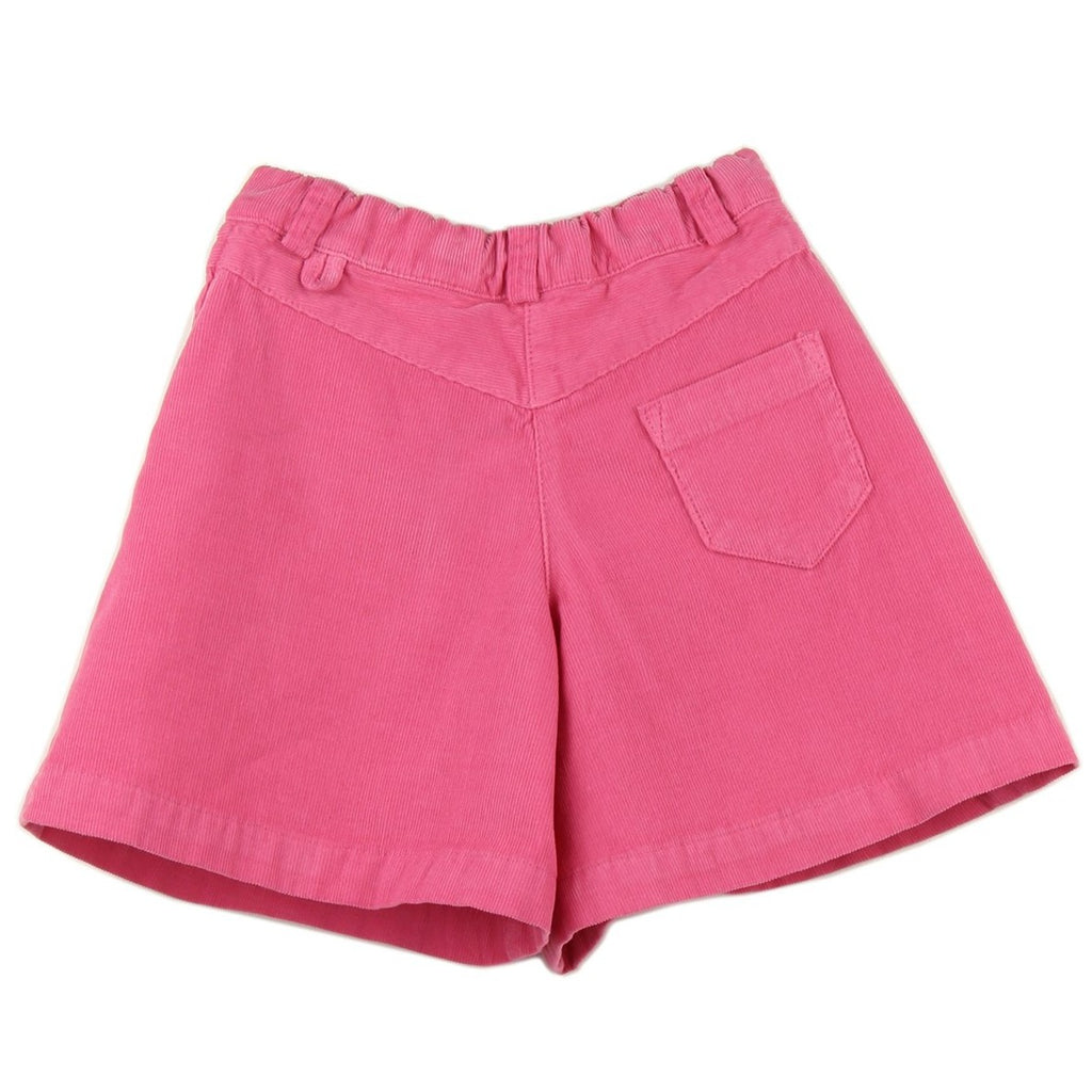 Girl culottes in Pink corduroy - back
